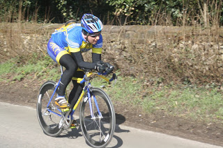 Nick Senechal riding the Welwyn Wheelers 2013 Hilly Time Trial