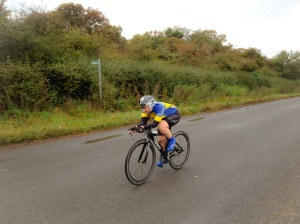 Leanne at the end of lap 1