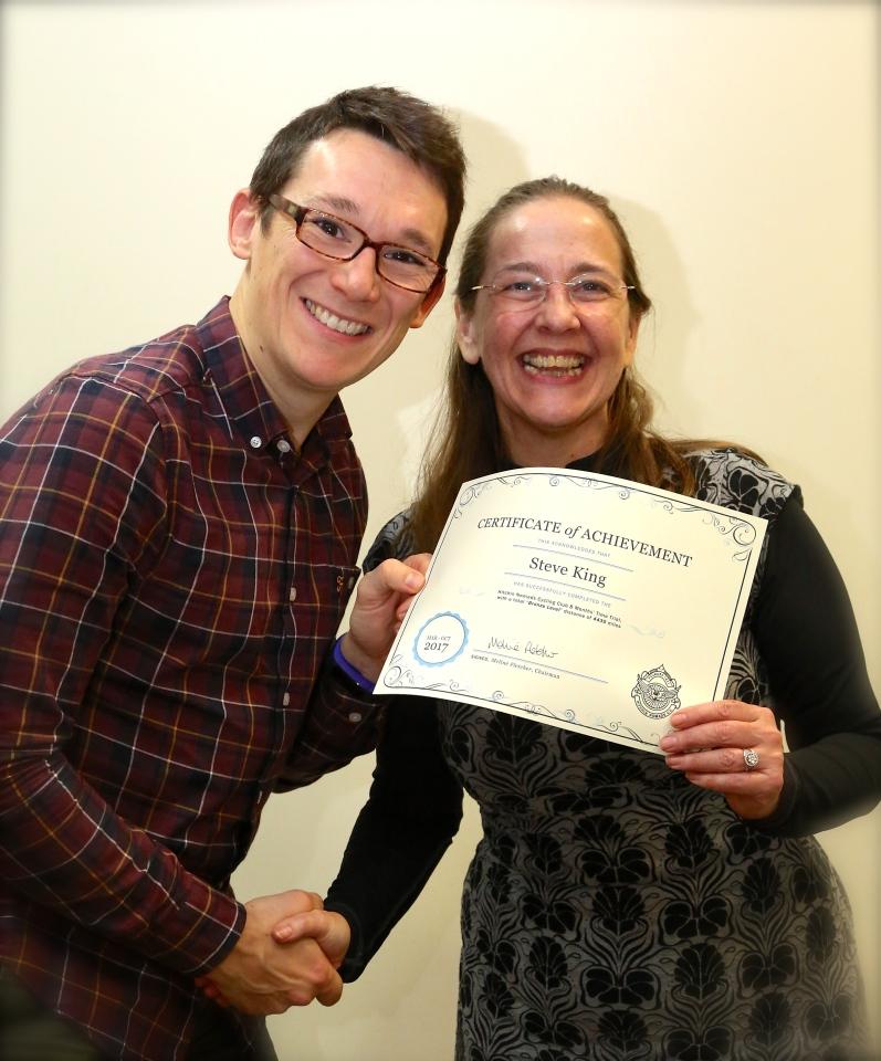 Meli Presents Bronze Tourist Certificate To Steve K